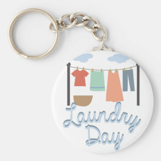 Laundry Day Keychain