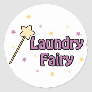 Laundry Fairy Round Sticker