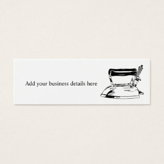 Laundry Ironing Service Skinny Business Cards