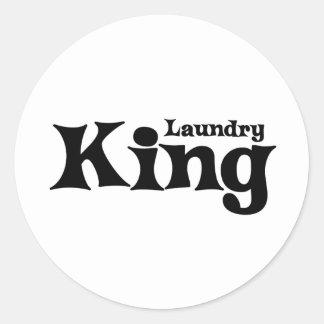 Laundry King Round Sticker