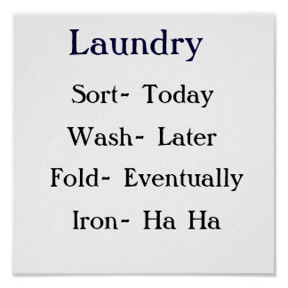Laundry List Poster