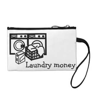 Laundry money pouch change purses