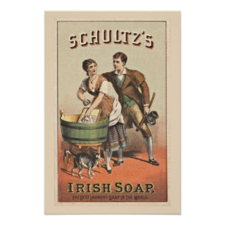 Laundry Poster Shultz Irish Soap