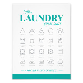 Laundry Room Cheat Sheet Photo Print