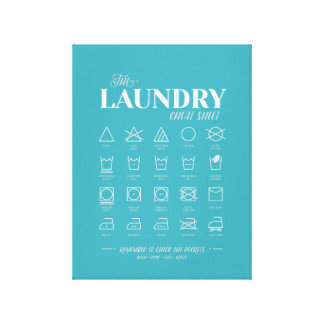 Laundry Room Cheat Sheet (Wrapped Canvas) Canvas Print