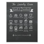 Laundry Room Procedures Guide Poster