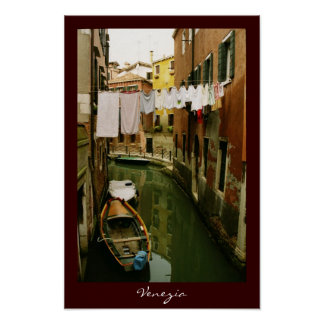 Laundry Venice Canal Poster