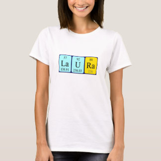 Laura periodic table name shirt
