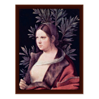 Laura (Portrait Of A Young Woman) By Giorgione Postcard