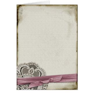 Laura Vintage Lace Card