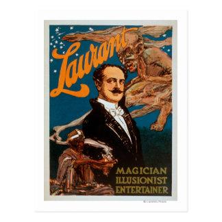 Laurant Magician, Illusionist, Entertainer Magic Postcard