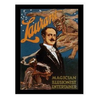 Laurant magician illusionist entertainer postcard