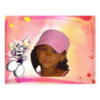 Laureen et carte postale de Kenny