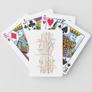 Laurel and Hardy Themed Item Bicycle Playing Cards
