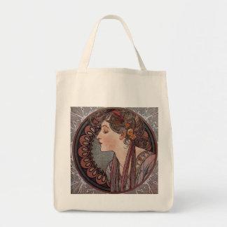 Laurel by artist Alphonse Mucha art nouveau Tote Bag