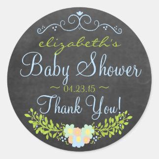 Laurel-Chalkboard Look Baby Shower Stickers