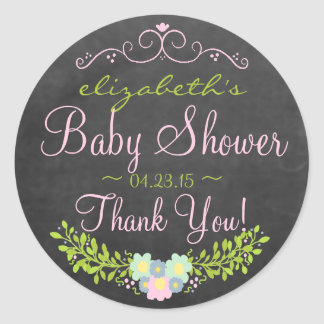 Laurel-Chalkboard Look Baby Shower Sticker