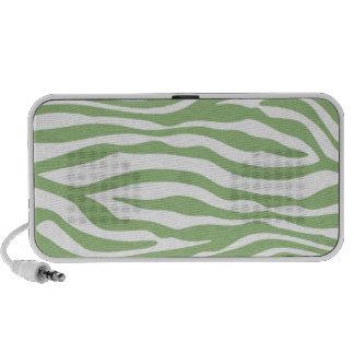 Laurel Green Zebra Stripes Animal Print iPod Speaker