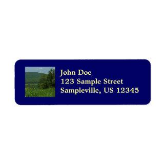 Laurel Highlands Pennsylvania Summer Photography Return Address Label