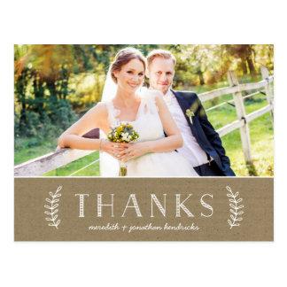 Laurel Kraft Paper | Photo Thank You Postcard
