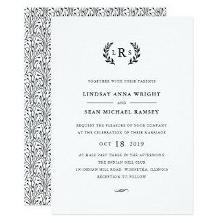 Laurel Monogram Wedding Invitation
