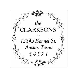 Laurel Wreath Address Stamp