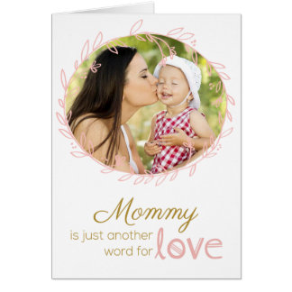 Laurel Wreath Custom Photo Mother's Day Card