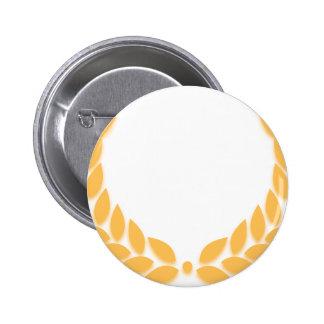Laurel Wreath Gold 2 Inch Round Button