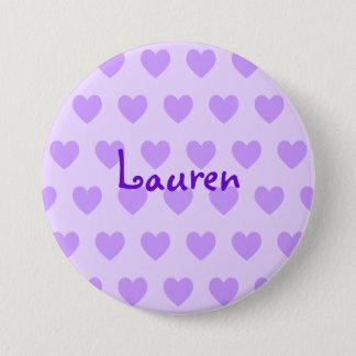 Lauren in Purple 3 Inch Round Button