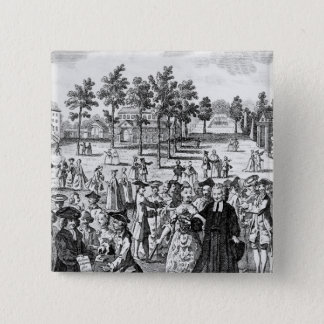 Laurence Sterne 2 Inch Square Button