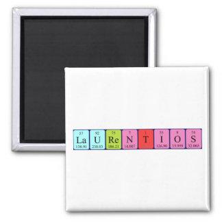Laurentios periodic table name magnet