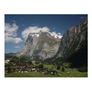 Lauterbrunnen valley postcard