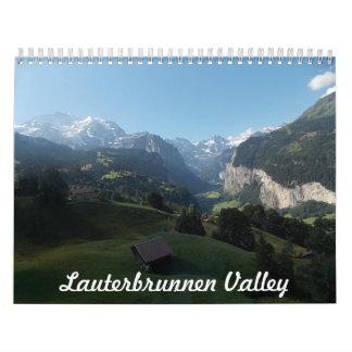 Lauterbrunnen Valley Switzerland Calendar