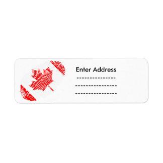 L'autocollant du Canada marque l'itinéraire de Étiquette D'adresse Retour