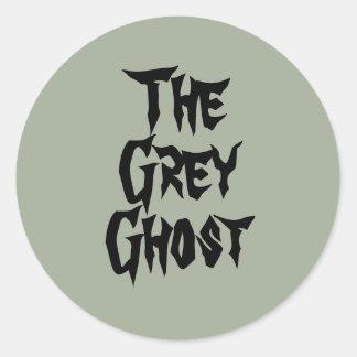 L'autocollant gris de fantôme sticker rond