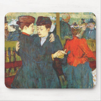 Lautrec at the rouge two women waltzing mousepad