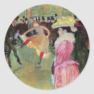 Lautrec - Dance At The Rouge Classic Round Sticker