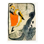 Lautrec: Jane Avril Dancing the Can-Can Postcard