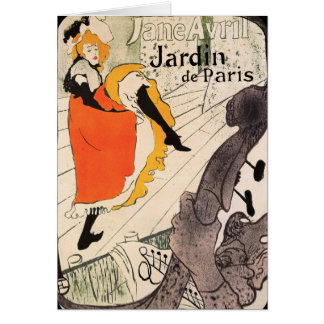 Lautrec: Jane Avril, Jardin de Paris Card