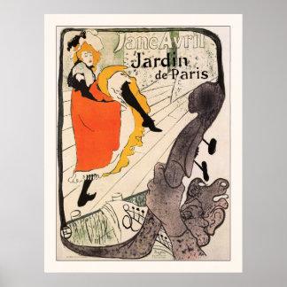 Lautrec: Jane Avril, Jardin de Paris Posters
