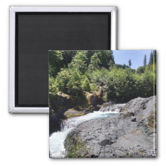 Lava Canyon Waterfall Photo Magnet