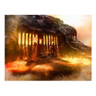 Lava Core Temple Postcard