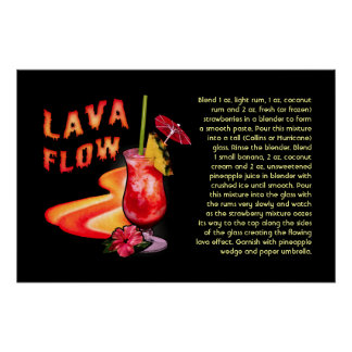 Lava Flow Recipe Poster