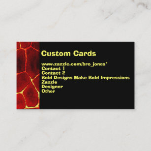 Lava business cards business card printing zazzle ca lava glow business card reheart Choice Image