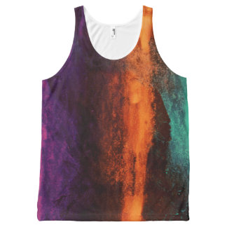 Lava Green Purple Unisex Tank All Over Print