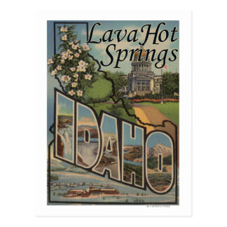Lava Hot Springs, Idaho - Large Letter Scenes Postcard