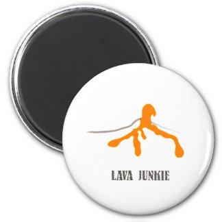 Lava Junkie (General) Magnet