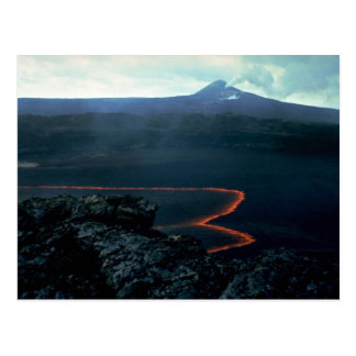 Lava lake and Pu'u O'o in background, Big Island, Postcard
