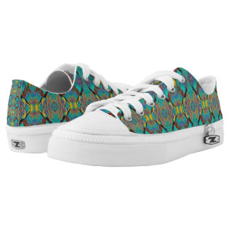 LAVA LAMP ABSTRACT OGEE KALEIDOSCOPE EMERALD Low-Top SNEAKERS