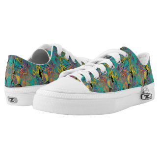 LAVA LAMP CURIOUS FLOWER EMERALD Low-Top SNEAKERS